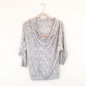 Moth Anthropologie | Gray Marled Cowl Neck Sweater